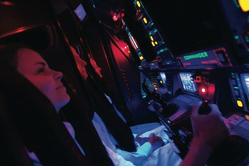 Inside a Mission: Space cockpit at Epcot