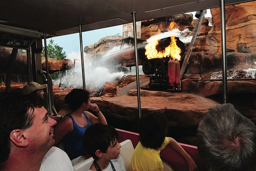 Action during Disney's Hollywood Studios Backlot Tour