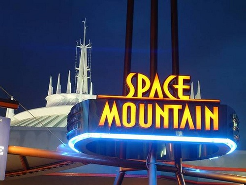 Exterior of Space Mountain at Walt Disney World.