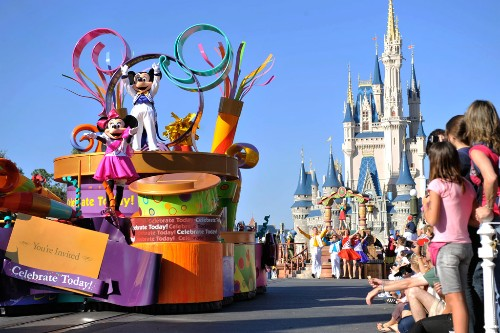Dozens of Disney characters, dancers and performers star on parade