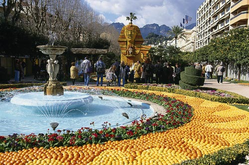 Menton during its annual Lemon Festival.