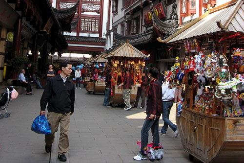 Old Town Bazaar in Shanghai, China.