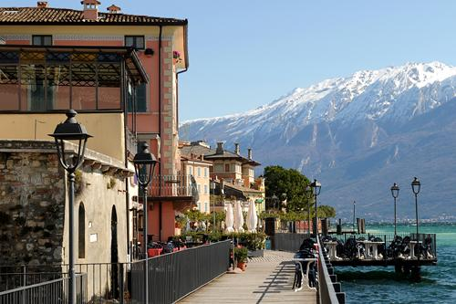 Picuturesque view of the small town of Gargnano on Italy's largest lake, Lake Garda (Lago di Garda)