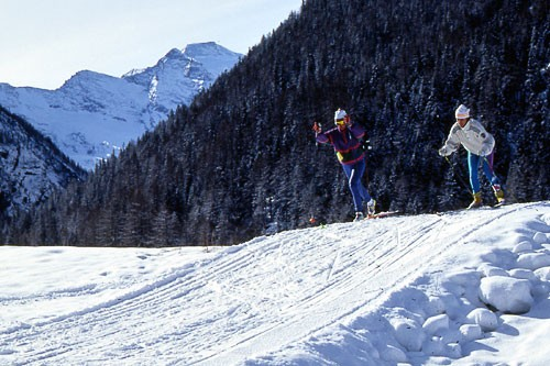 The Sant'Orso meadow outside Cogne, a former ore mining village, is the best spot to try a bit of cross-country skiing