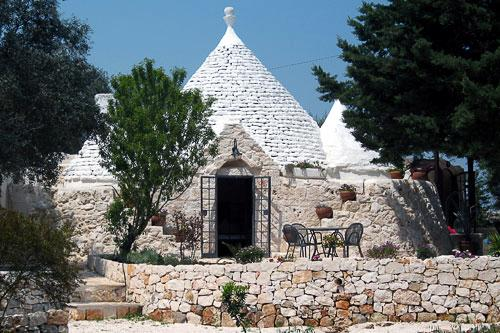 Trulli Talily is between Ostuni and Cisternino in the Apulia region. The hotel is a 30-minute drive from Brindisi Airport or an hour from Bari Airport. Courtesy Trulli Talily