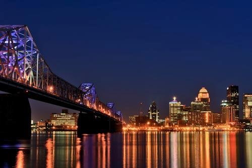 Nighttime in Louisville, Kentucky