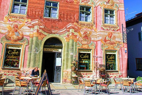"Decorated building in Mittenwald, Germany. Photo by <a href=""http://www.frommers.com/community/user_gallery_detail.html?plckPhotoID=d079be6b-eb22-4a1b-aed8-b542579fd65c&plckGalleryID=c0482941-0d2d-4cca-b8c4-809ee9e20c72"" target=""_blank"">Tambo/Frommers.com Community</a>"