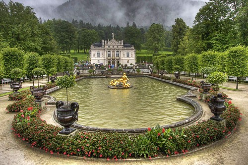 "The grounds of Schloss Linderhof near Oberammergau, Germany. Photo by <a href=""http://www.frommers.com/community/user_gallery_detail.html?plckPhotoID=3092ba80-4ad9-45f3-9f47-c6abaf563a64&plckGalleryID=c0482941-0d2d-4cca-b8c4-809ee9e20c72"" target=""_blank"">Bubba/Frommers.com Community</a>"