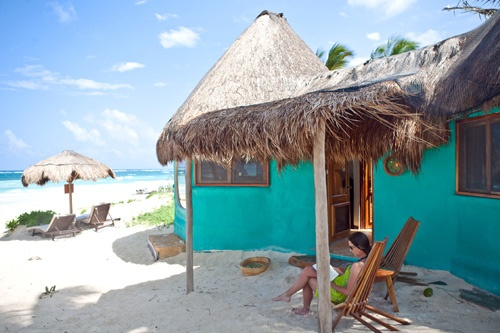 La Zebra Hotel - funky and fun right on the beach. Photo: Tanya Dueri/La Zebra Tulum