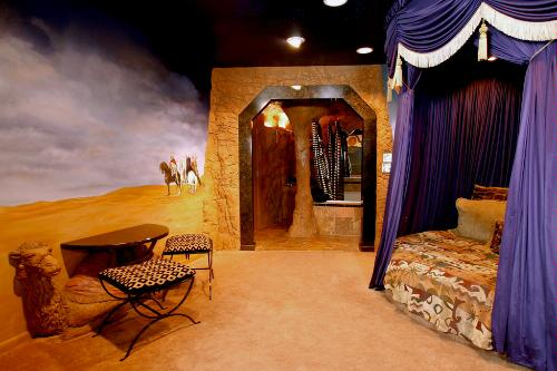 The Arabian Nights room at the Black Swan Inn, Pocatello, Idaho.