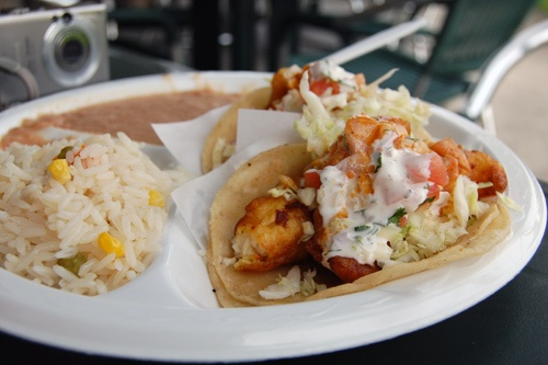Fish tacos in Baja, California.