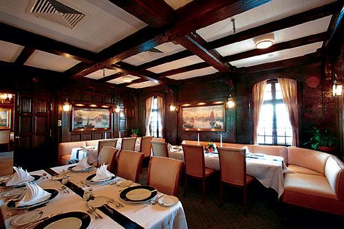 Sea Cloud's restaurant.