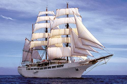 Sea Cloud II at sea.