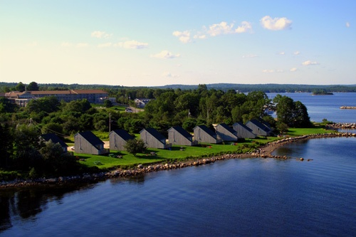 Aerial image of Atlantica Hotel & Marina Oak Island in Western Shore, Nova Scotia. Photo: Atlantica Hotel & Marina Oak Island