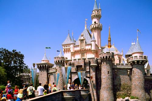 Sleeping Beauty's Castle at Disneyland in Anaheim, CA.