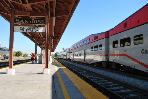 "San Jose CalTrain station. Photo by <a href=""http://www.flickr.com/photos/thewestend/2762784442/"" target=""_blank"">The West End/Flickr.com</a>."