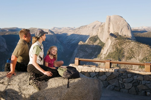 Hiking Glacier Point, Yosemite National Park. Photo courtesy DNC Parks & Resorts at Yosemite, Inc.