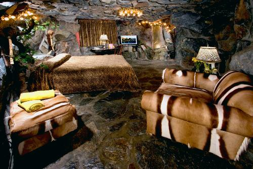The Caveman Room at the Madonna Inn, San Luis Obispo, California.