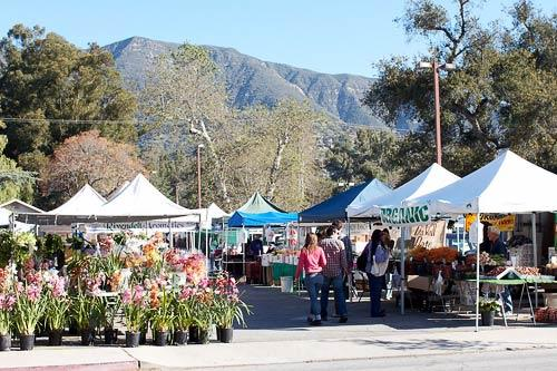 The Sunday Ojai Farmer's Market features local products and produce.