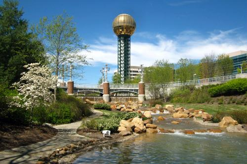 The Sunsphere in Knoxville, Tennessee.