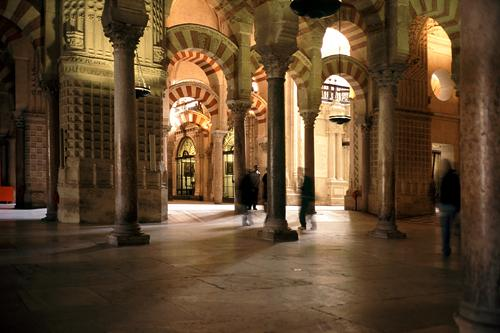 Interior of the Mezquita, Catedral de Cordoba in Andalucia