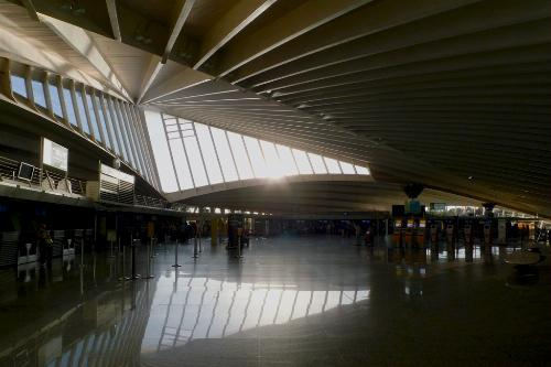 Bilbao Airport, Spain.