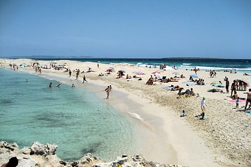 Platja Trucadors on the Spanish island of Formentera.