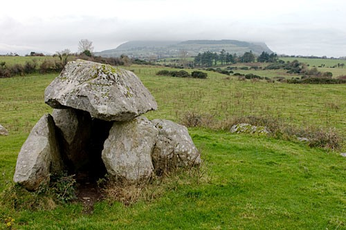 The dolmens at Carrowmore were megalithic graves.