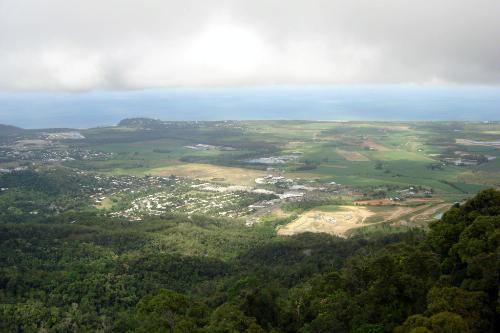 The city of Cairns, Australia, as seen from the Kuranda Skyrail.