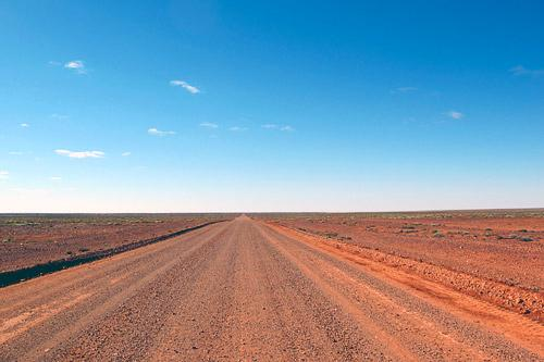 Along the Oodnadatta Track in the South Australian Outback.