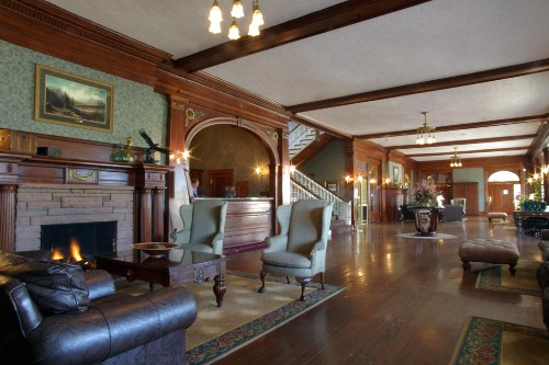 "The lobby of the Stanley Hotel, inspiration for ""The Shining."""