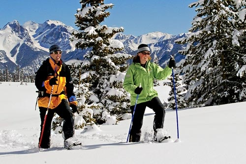 Snowshoeing through Purgatory at Durango Mountain Resort. Courtesy Durango Mountain Resort