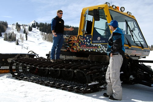 A snow cat at Crested Butte Mountain Resort. Courtesy Tom Stillo/CBMR