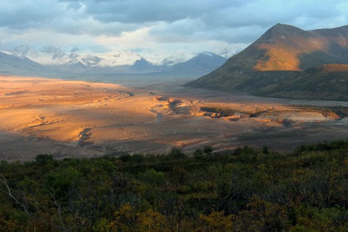 Valley of Ten Thousand Smokes Sunset, Katmai National Park & Preserve.