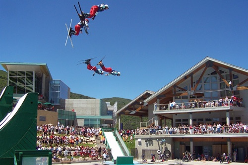 Watch the fabulous Flying Aces show at Utah Olympic Park. Photo courtesy Utah Olympic Park