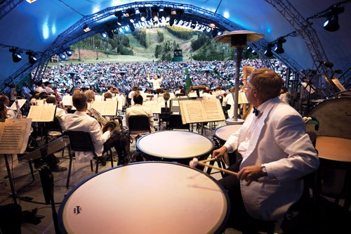 In summer, enjoy an outdoor performance at Deer Valley Snow Park Amphitheater. Photo by Mike Tittel, courtesy Deer Valley