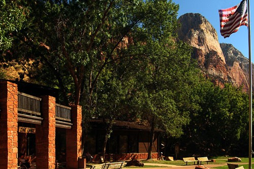 Zion Lodge in Zion National Park, Utah.