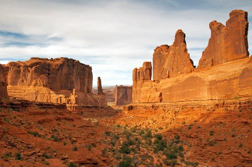 Park Avenue in Arches National Park in Utah.