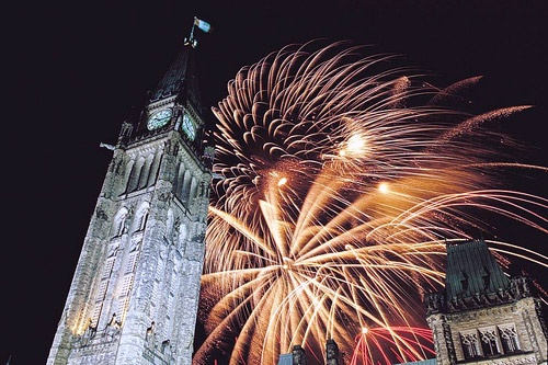 Canada Day celebrations in the capital city Ottawa
