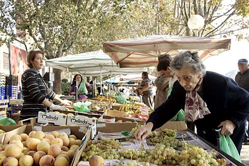 Farmers from the Piedmont hills set up in Asti's Campo del Palio market on Wednesday and Saturday mornings.