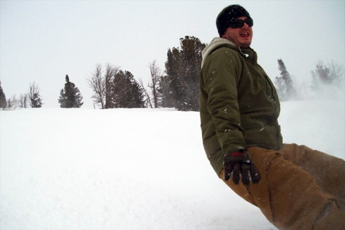 Snowboarding in Jackson Hole, Wyoming.
