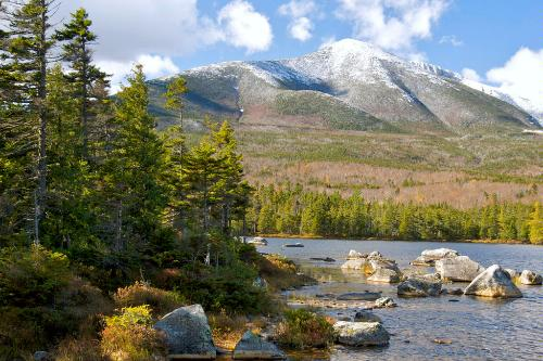 Sandy Stream Pond and Mt. Katahdin in Baxter State Park in Maine.