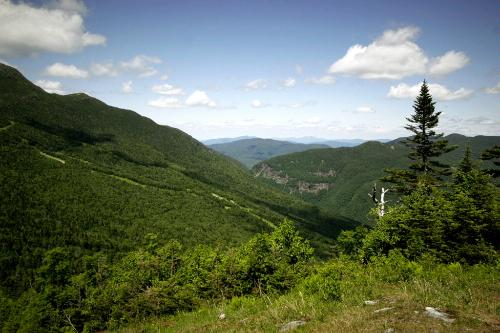 View of Smugglers Notch near Mt. Mansfield, Vermont.