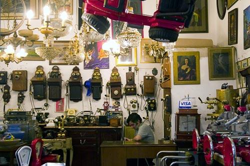 Inside a shop in San Telmo, a popular area in Buenos Aires for antiques.