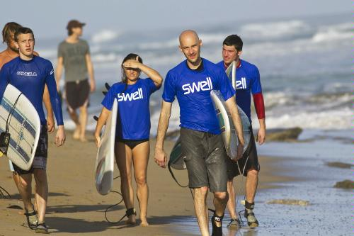 Students at Swell Surf Camp in Cabarete, Dominican Republic.