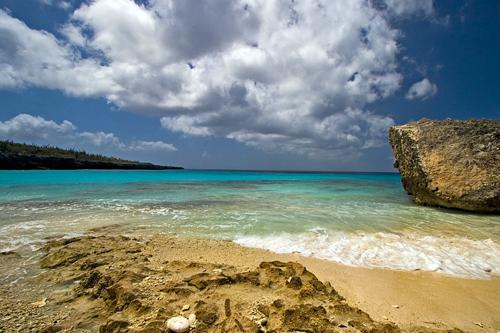 Beautiful crystal waters on the shores of Slagbaai National Park on Bonaire in the Antilles