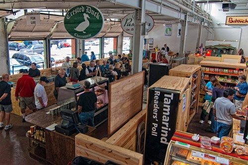 Interior of the Pittsburgh Public Market. Photo courtesy of WDO Photography.