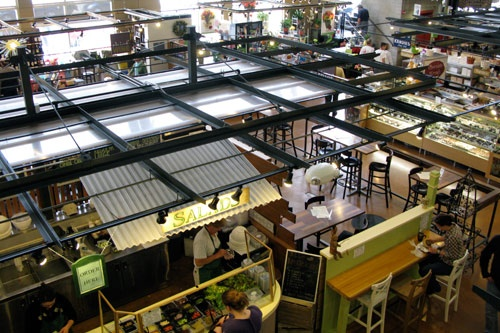 Interior of the Milwaukee Public Market.