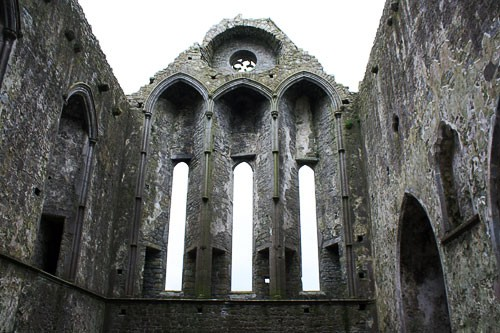 Interior of the ruins at the Rock of Cashel.