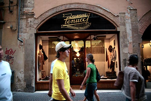 Lucca's Via Fillungo is where lucchesi come to shop or take an evening passeggiata.